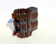 SPAZIO, ferro, cm 30x30x15, 2007