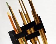 SOGLIA, legno e ferro, cm 100x70x20, 2008