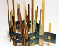AMBIENDO, legno e ferro, cm 120x80x60, 2008