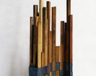 FORMA VARIABILE ORIZZONTALE, legno e ferro, cm 40x30x10, 2009