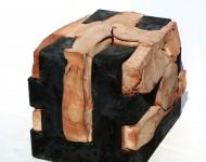 L'OSPITE, COLUI CHE ACCOGLIE ED E' ACCOLTO III, terracotta e ferro, cm 25x30x20, 2009 (collezione privata)