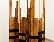 FORMA ORIZZONTALE VARIABILE, legno e ferro, misure variabili, 2009