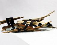 FORZA ELICOIDALE, legno e ferro, cm 150x40x40, 2008