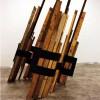 DOPPIA VARIABILE OBLIQUA, legno e ferro, cm 300x200x250, 2010