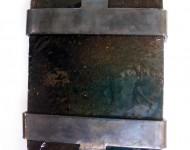STORIE DEL CIELO, terracotta smaltata e ferro, cm 20x30x4, 2004 (collezione privata)