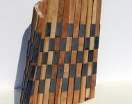 LIMITE VARIABILE, legno e pimbo, cm 40x40x2 (misure variabili), 2007