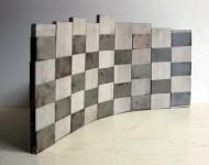 SPAZIO FLUTTUANTE, travertino e ferro, cm 50x100x2 (misure variabili), 2007