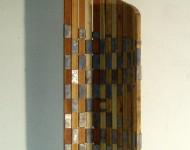 VARIABILE VERTICALE, legno e piombo, cm 55x35x1,5 (misure variabili), 2009