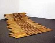 VARIABILE ORIZZONTALE, legno e ferro, cm 150x300x1,5 (misura variabile), 2008
