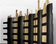 POLIFORMA ARCHITETTONICA INDIPENDENTE, legno e ferro, cm 230x360x15 (misure variabili), 2010