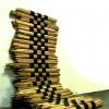 POLIFORMA ARCHITETTONICA, legno e ferro, cm 250x150x100 (misure variabili), 2010