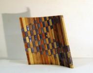 VARIABILE ORIZZONTALE, legno e piombo, 40x45x1,5 (misure variabili), 2009